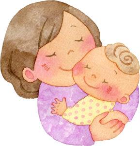 ゆったりした赤ちゃんとママ